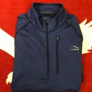 L.L Bean Quarter Zip Pullover Sweatshirt Size: L